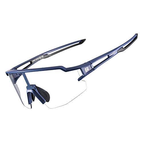 ROCKBROS(ロックブロス)スポーツサングラス 調光サングラス 運転用 メガネ 透明 変色調光サングラス uv400 ロードバイク 自転車 アイウェア