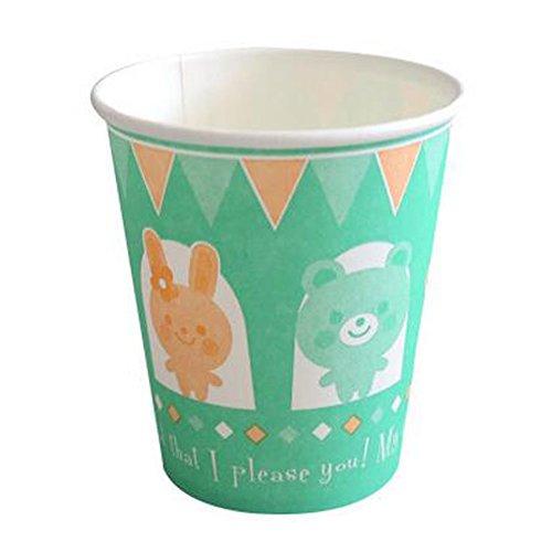 Alien Storehouse 60PCS Wasser-Schalen-Getränke Papier Cup Einweg Pappbecher für Party, A
