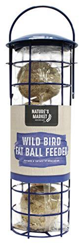 Natures Market BFSET3, mangiatoia per Uccellini con Palle di Grasso, Trasparente, 8,5x 26x 8,5cm