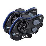 LEXIN FT4 Helm Intercom, Motorrad Headset Bluetooth Helm Gegensprechanlage bis zu 4 Fahrer Kommunikation Geräuschunterdrückung Reichweite von 2000 Metern mit FM, Siri, S-Voice für Snowmobil