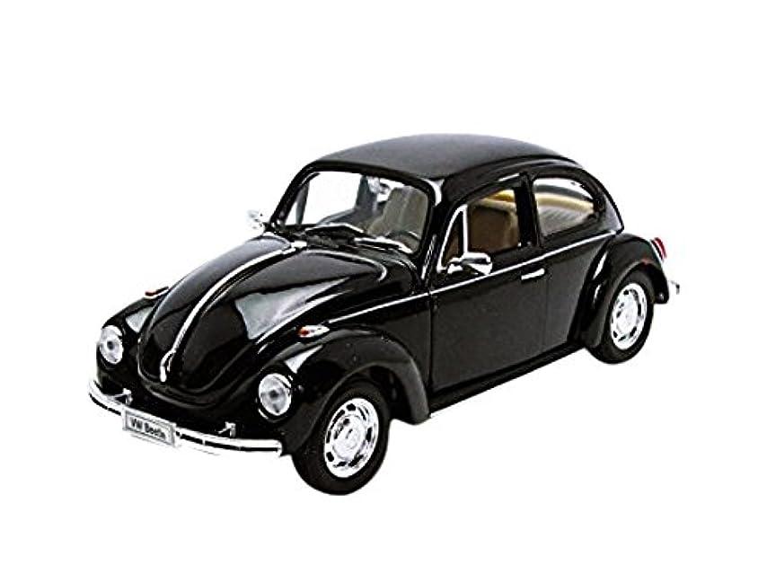 子孫について死ぬVolkswagen Beetle Black 1/24 by Welly 22436