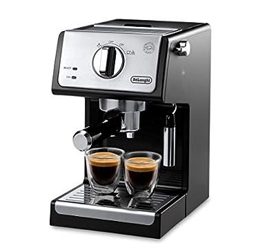 De'Longhi A-3220-RMB Espresso Cappuccino Maker Manual Frother, 9.6 x 7.2 x 11.9, Black