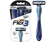 BIC Flex 3 Men's 3-Blade Disposable Razor, 4 Count