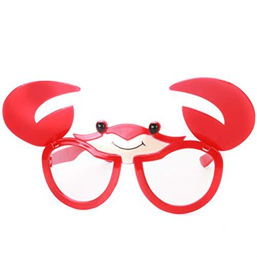 BESTOYARD Juguete Gafas Divertidas Disfraz Gafas Accesorios para niños Cangrejo Anteojos Vestir Gafas Accesorios de Fotos Artículos de Fiesta para Disfraces