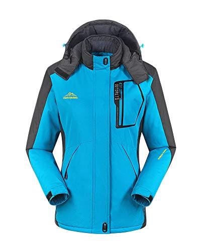 Herren/Damen Softshell Outdoor Jacke Übergangsjacke Mit Kapuze Aus Winddichtem Und Waterproof Yue Blau F 6XL