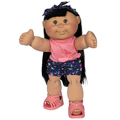 """Cabbage Patch Kids New 14"""" Doll - Girl in Flower Outfit"""