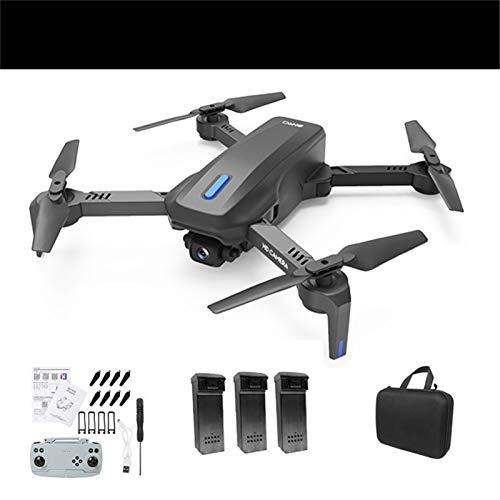QUANXI H14 Drone com câmera 4K,transmissão GPS 2.4G FPV Drone dobrável para iniciantes e adultos,Quadcopter RC com Me siga,3D Flip,Controle de gestos,tempo de vôo longo (3 * baterias)