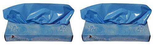 Heaven Scent Hygienebeutel mit Duft, insgesamt 100 Beutel (2 Stück) zur Entsorgung von Erwachsenenwindeln, Feminine und Inkontinenzprodukten