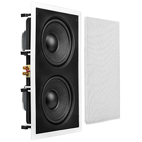 "OSD Audio 350W in-Wall Home Theater Subwoofer – 8"" Woofers, Back Bridge - IWS88"