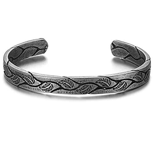 NDYD Amuleto Vintage Nórdico Vikingo Celta Pulsera Ajustable Abierta, Amuleto Vintage Joyería Regalo Hombre Mujer Adolescente Joyería Universal