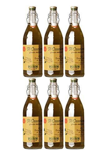 Farchioni Olio Extra Vergine Il Casolare Grezzo 1000 ml (6er Vorratspaket)
