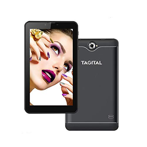 Tagital 7' Quad Core 3G Phablet, Android Phone Tablet, Android 6.0, 1024 x 600 IPS Screen, Dual Camera, Unlocked GSM w/Dual Sim Card Slot, 2G/3G Phablet