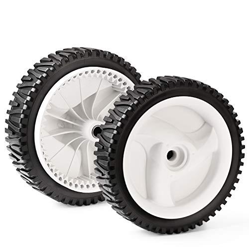 CY CHAOYA 2 PCS Mower Drive Wheels for AYP194231X427 Oregon72-344 Husqvarna 583719501 194231X460(White)