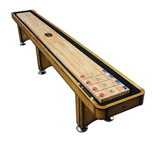Playcraft Georgetown Shuffleboard Table, Honey, 12-Feet