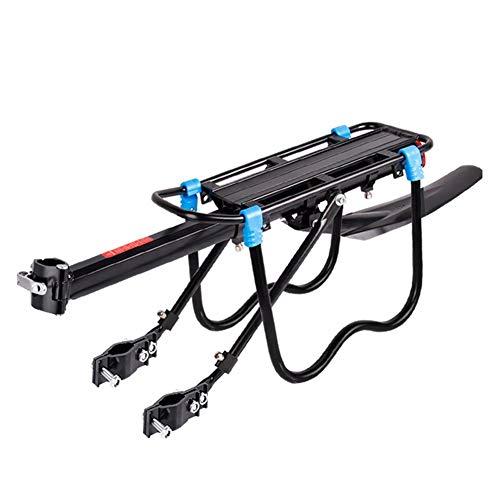 Capacidad de 90kg Equipaje para Bicicletas Ajustable Portaequipajes, Estante para Maletas para...