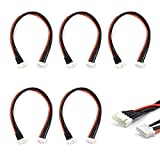 JST-XH 4S Balance Plug Extension Lead Wire 200mm 5 PCS for LiPo Battery Balance Charging 22AWG Silicone