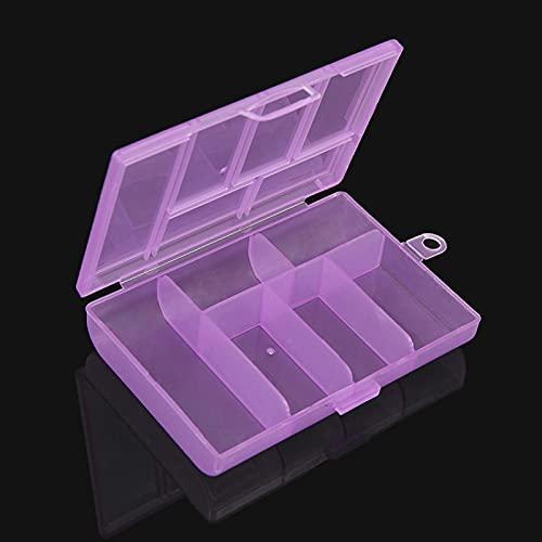 SHUANGJ Pp6 Grid Caja de plástico Transparente, Caja de Almacenamiento de Joyas, Caja de clasificación electrónica de componentes, Caja de Cuentas Purple