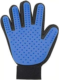 Rag & Sak® Pet Grooming Glove Gentle Deshedding Brush Gloves Massage Tool for Dog Cat (blue)