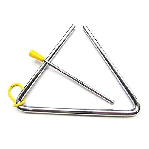 1x toruiwa niños juguete Musical instrumento de percusión de Aleación de triángulos de cabra Metal escuela niños educación temprana juguete
