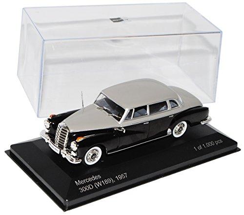 Whitebox Mercedes-Benz 300d W189 Adenauer Schwarz Silber 1957-1962 1/43 Modell Auto