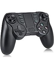 TRENZADO 無線 PS4 コントローラー TURBO連射 HD振動 ジャイロセンサー イヤホンジャック付き PS4 ゲームパッド PS3/PCにも対応 日本語取扱説明書