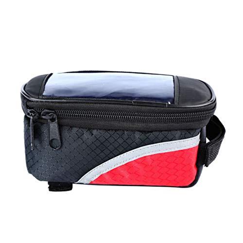 xunlei - Bolsa delantera para bicicleta, bolsa portaequipajes para bicicleta, cuadro delantero, bolsa para maletín, porta móvil, impermeable, funda para bicicleta de montaña
