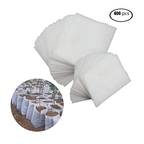 Warooma Lot de 400 sacs de culture biodégradables en tissu non tissé pour semis et plantes