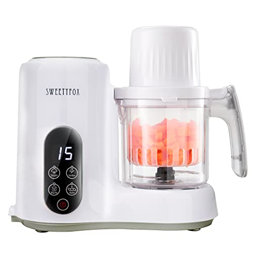 Robot de Cocina Multifuncion 6-en-1 para Bebé - Vapor, Batidora, Limpieza Automática, Esterilizador de Biberones, Recalentar, Descongelar - Robot Cocina Bebes