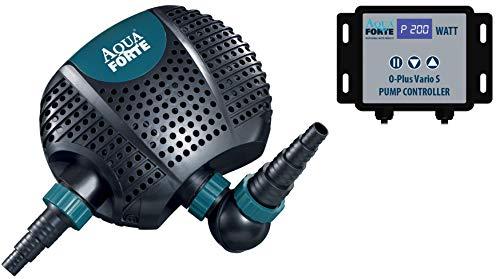 AquaForte Filter O-Plus 10.000 Vario S, 34-85W, Förderhöhe 5,5m, regelbar Teichpumpe, blau,schwarz