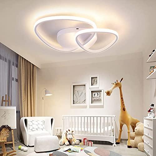 Lámpara de techo LED moderna regulable con control remoto para dormitorio, sala de estar interior, lámpara de techo para comedor, cocina, salón, iluminación de techo brillante (color: blanco)