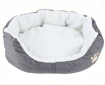 Cdet Rond ou Ovale en Forme de Coussin Matelas lit pour Chien/Chat Animaux Lit Pet Cat Bed pour Chats et Petits Chiens Fournitures pour Animaux 1PC Size 60 * 50 * 15cm