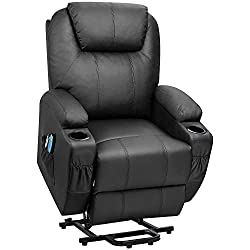 commercial Elderly synthetic leather Flamaker powerlift reclining armchair with massage and heating Ergonomic … lift chair recliner