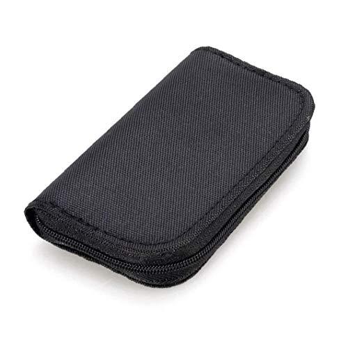 Sanfiyya 22 Slots Speicherkarten-Tasche wasserdicht SD-Kartenhalter-Tragetasche für Micro SDHC SDXC TF SIM-Karte CF-Schwarz Elektronik-Zubehör