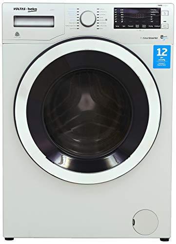 Voltas Beko 8 kg Inverter Washer Dryer (WWD80S, Grey)