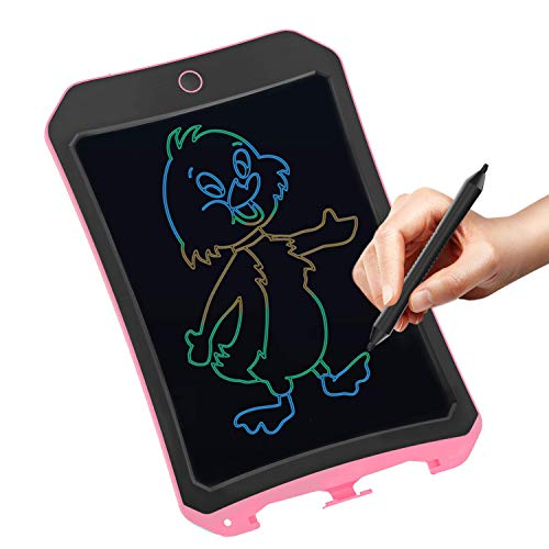 VNVDFLM 8.5 inch Writing Board Drawing Tablet Doodle Tablet Toys for Kids,Birthday Gift for 4-5 Years Old Kids & Adults Color LCD Writing Tablet with Stylus Drawing Writer (Pink-c)