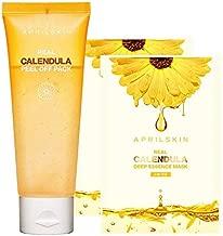 APRILSKIN Calendula Peel Off Mask + FREE Calendula Deep Essence Mask 2EA   Dry, sensitive, acne-prone skin   Exfoliating, soothing & hydrating   3.52 oz   No sulfates and artificial fragrance