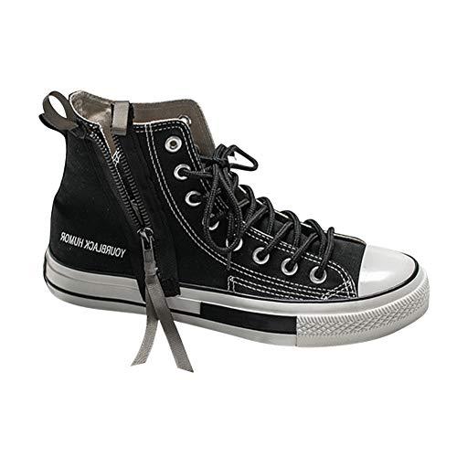 Daytwork Leinwand Schnürschuhe Turnschuhe Freizeitschuhe - Schuhe Herren Skateboardschuhe Atmungsaktiv Mode Segeltuchschuh Sneaker Mädchen Trainer High Top Paar (39 EU=Etikette 40 CN=25cm)