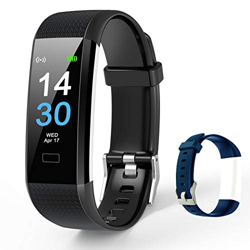 TOPLUS Fitness Tracker, GPS Smart Watch, Heart Rate Monitor IP68 Waterproof Activity Tracker Pedometer, Blood Oxygen, Pressure, Body Temperature, Sleep Monitor,16 Sport Modes, Plus 1 Extra Band