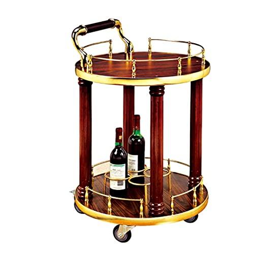 Servierwagen Moderne Teegetränke Servierwagen Wein Spirituosenwagen Massivholz Barwagen für Küche Indoor Outdoor Lagerung Garten Terrasse Dinner Party (mit Rädern)