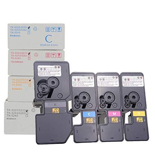WENMWAdecuado para KYOCERA TK-5242 Cartucho de tóner, Compatible Reemplazar Cartucho de tóner de la Impresora KYOCERA ECOSYS P5026CDN P5026CDW M5526CDN M5526CDW Láser,4 Colors