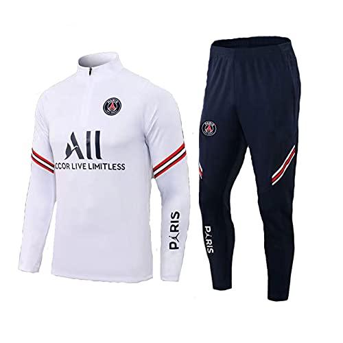 Paris Fußball Trainingsanzug, Fußballclub Herren Langarm Atmungsaktives Sporttraining Fitness Laufanzug Trainingsanzug Jogginganzug Anzug
