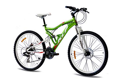 KCP 26' Mountain Bike Rooster 21 Speed Shimano Unisex Red - (26 Inch)
