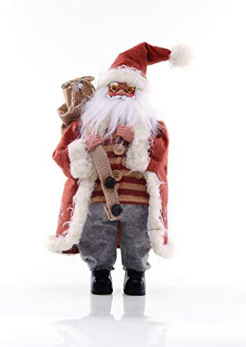 DecoKing - Statuine natalizie con Babbo Natale, 43 cm