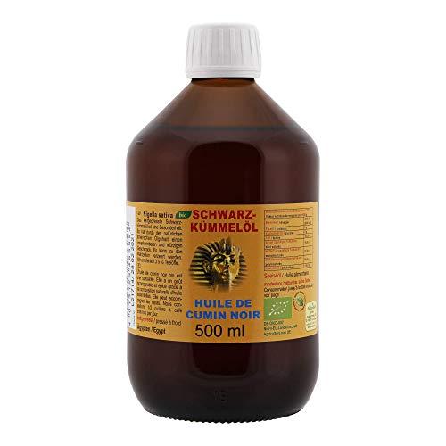 Olio cumino nero puro organico - nigella sativa dall'egitto 500 ml