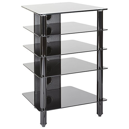 MMT Furniture Designs Hfblk610 Étagère fixe Noir