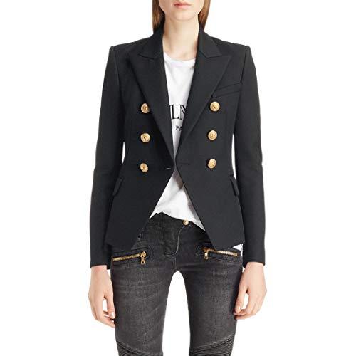Azastar dames blazer dunne lange mouwen knoopsluiting licht bolero jas pak jas met zakken
