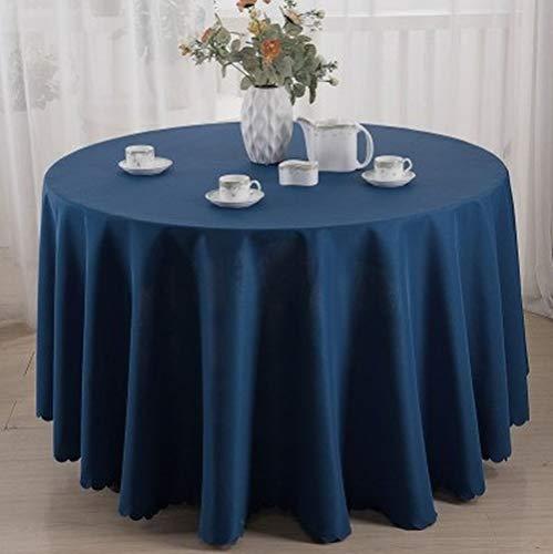 TWTIQ 23 Colori Poliestere Tovaglia Tovaglia Tovaglia Tavola Rotonda Decorazione della Tavola Matrimonio Hotel Spettacolo Partito Blu Navy 320 Cm Rotonda