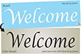 Joanie 12' Stencil Welcome Home Shabby French Font Garden Prim Family DIY Signs