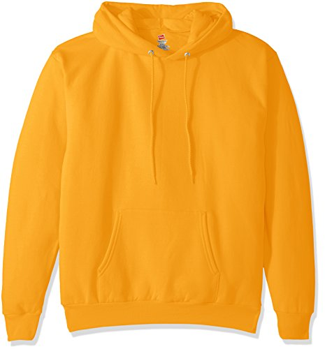 Hanes Men's Pullover Ecosmart Fleece Hooded Sweatshirt, gold, 2XL