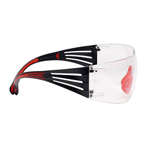 3M SecureFit 400 Gafas de seguridad, marco Rojo/Gris, anti-empañamiento Scotchgard, ocular transparente, SF401SGAF-RED EU ⭐